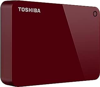 Toshiba Canvio Advance 4TB Portable External Hard Drive USB 3.0, Red (HDTC940XR3CA)