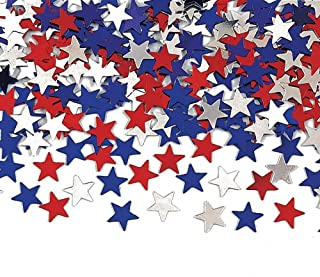 Creative Converting Metallic Star Confetti, Red, White and Blue (3-Pack)