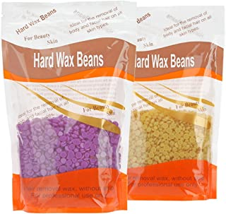 Bonjanvye Hard Wax Kit Hair Removal Wax Kit Hard Wax Beans Kit Prime 300g (violet and honey)