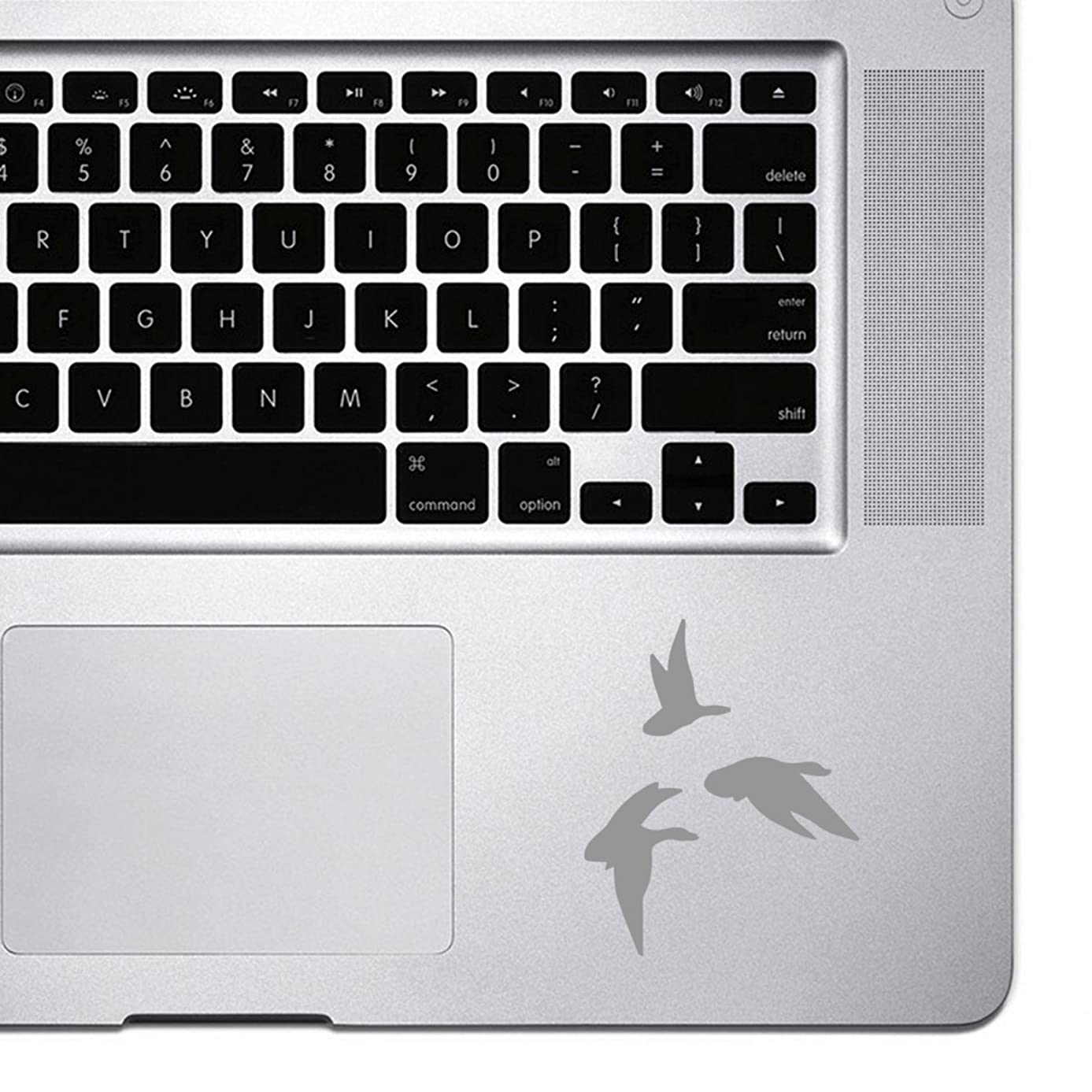 StickAny Palm Series Hunting Geese Sticker for Macbook Pro, Chromebook, and Laptops (Silver)