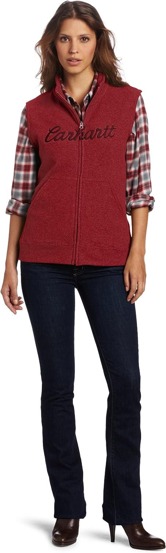 Carhartt Women's Boyne Vest Fleece Zip Front Hooded