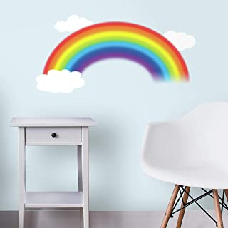 RoomMates RMK1629GM Over The Rainbow Peel and Stick Giant Wall Decal, Multicolor