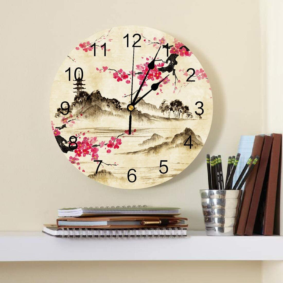 Vintage Wall Clocks Safety and trust Battery Operated Max 46% OFF Silent Retro Non Ticking -