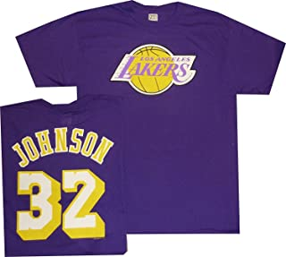 Los Angeles Lakers Magic Johnson Vintage Majestic Purple T Shirt