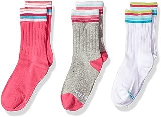 Stride Rite Girls' 3-Pack Crew Socks