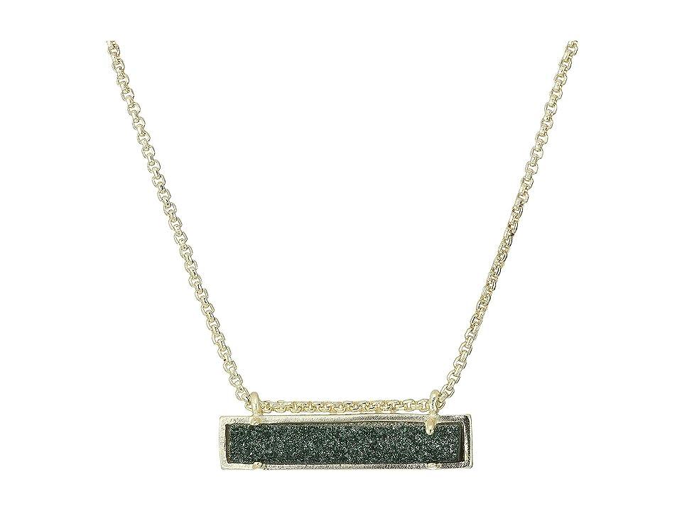 Kendra Scott Leanor Necklace (Sage Drusy/Gold Tone) Necklace