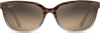 Maui Jim Honi Polarized Grey Tortoise Stripe cateye Frame Sunglasses, with Patented PolarizedPlus2 Lens Technology