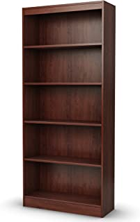 South Shore 5-Shelf Storage Bookcase, Royal Cherry