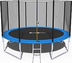 Trampoline 366 cm met veiligheidsnet blauw tot 150 kg