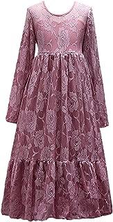 Lihuang Elegant Lace Princess Dress Long Sleeve Girl Dresses 4-15T