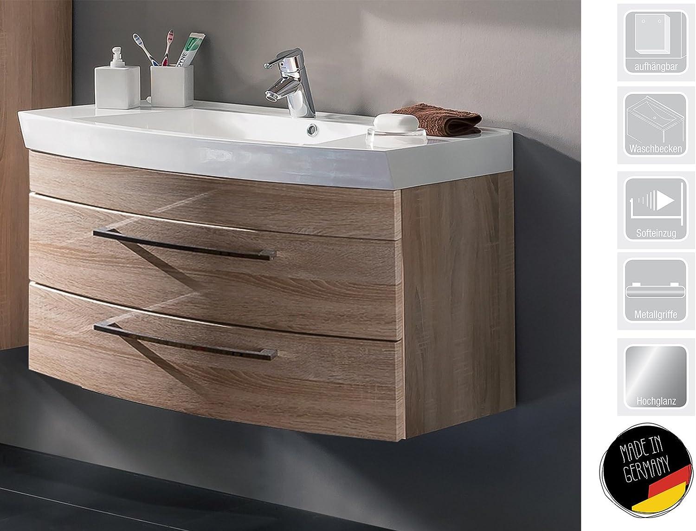 Waschplatz Unterschrank Waschtisch Badmbel Waschbecken Badschrank  Rima II  (Sonoma-Eiche)