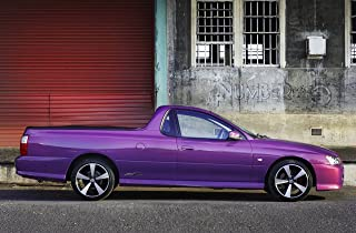 Holden Commodore SVZ Ute (2007) Car Art Poster Print on 10 mil Archival Satin Paper Purple Side Static View 24