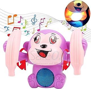 SaleOn Baby Voice Control Flipping Monkey Rolling Little Monkey Toy Walk Sing Music Flash Light Brain Game Crawling Electr...