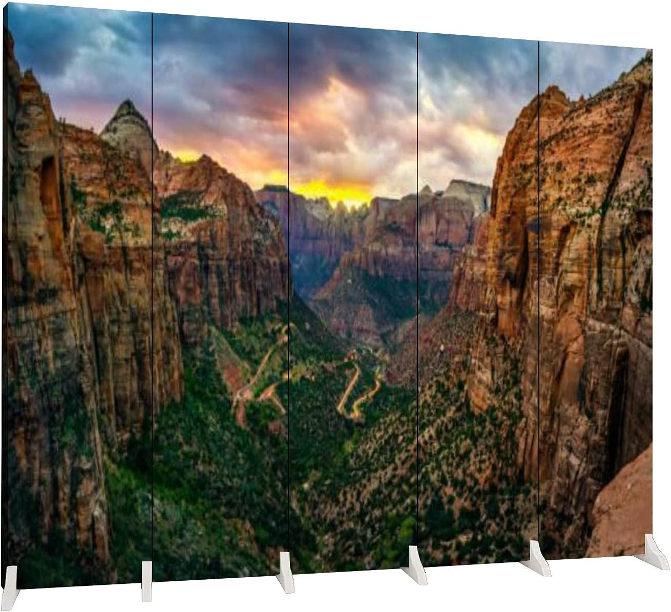Dola-Dola 5 Panel Ranking TOP11 Screen Room Divider Courier shipping free shipping Zion Panoramic View Nat of
