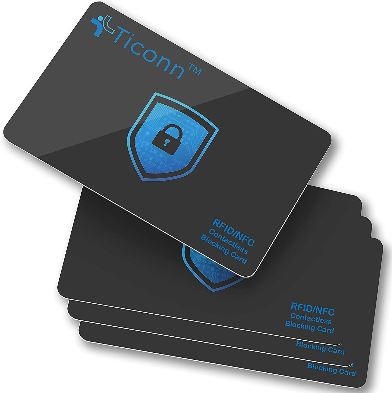 TICONN RFID Blocking Cards - Max 84% OFF 4 Contactless Deb Premium NFC Discount mail order Pack