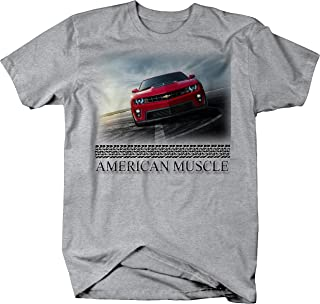 American Muscle New Classic Muscle Car Camaro SS ZL1 Red Graphic T Shirt for Men