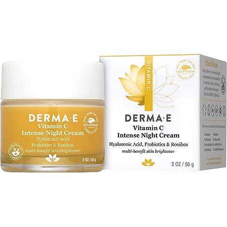 DERMA E Vitamin C Intense Night Cream, 2 oz, Cream White