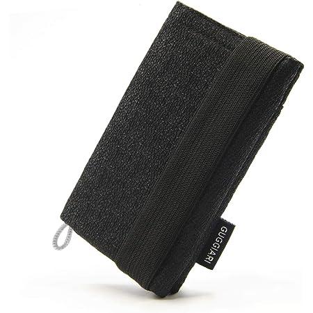 Mini Cartera para Hombre, Ligera y Compacta Que Tiene un Sistema de Seguridad RFID- Billetes, Documentos, Tarjetas de crédito y Llaves estarán Seguras en la Cartera Antirrobo. (Black - Sablé)