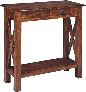Ashley Furniture Signature Design - Abbonto Console Sofa Table - Casual - Warm Brown