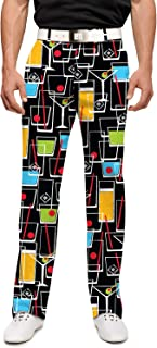 Loudmouth Golf-StretchTech Poly-John Daly Fun Drinks Happy Hour Men's Pant Men's Pant-Tour Slit at Bottom Hem