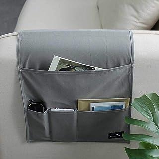 GeKLok Poche de rangement antidérapante pour accoudoir de canapé, fauteuil et accoudoir de canapé, économise de l'espace p...