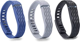 I-SMILE 3PCS Replacement Bands with Metal Clasps for Fitbit Flex, Set of 3 with 2 Piece Silicon Fastener Ring