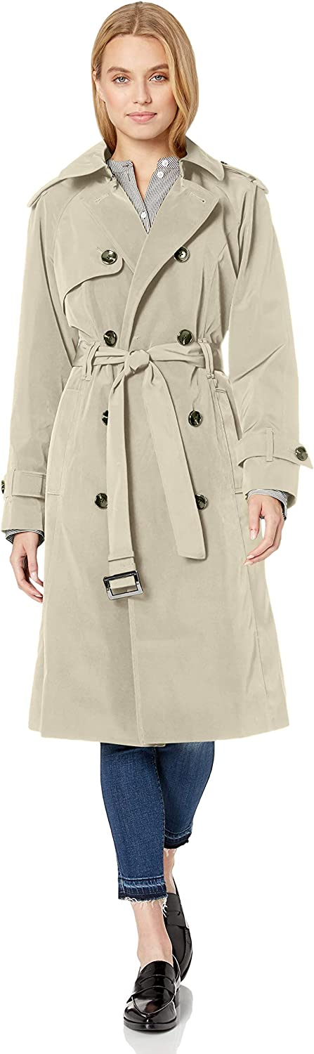 London Fog Women's 3 4 Length Trench Coat B Double-Breasted Opening large release sale with Max 51% OFF