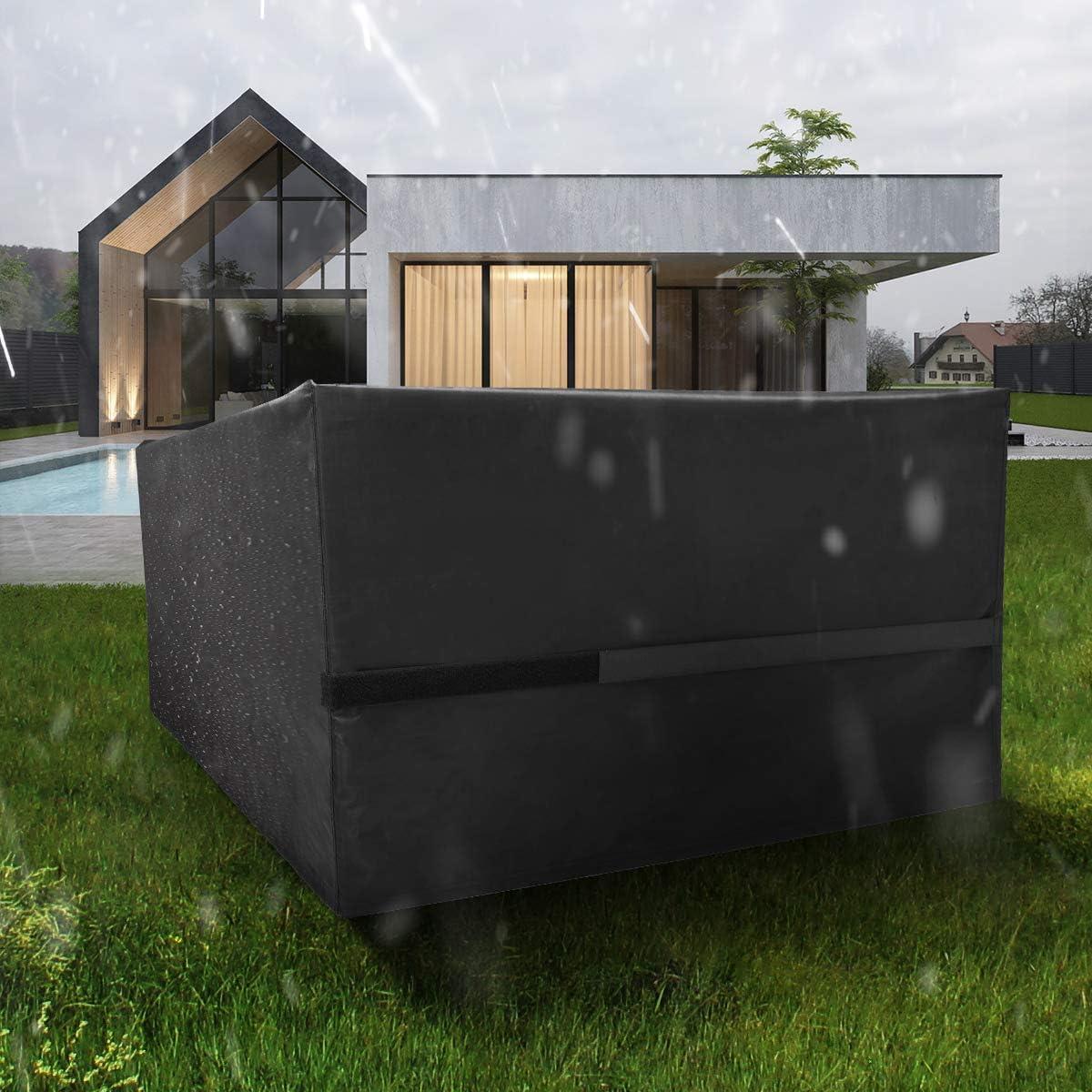 242x162x100 cm FlyLemon Copertura Tavolo Giardino,Protezioni del Patio Anti-UV Impermeabili in Tessuto 420D Oxford con Dieci Dimensioni.