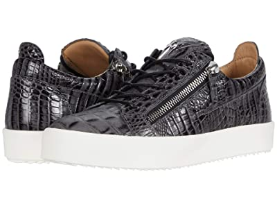 Giuseppe Zanotti Frankie Pyton Low Top Sneaker (Anthracite) Men