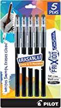 PILOT FriXion ColorSticks Erasable Gel Ink Stick Pens, Black Ink, 5-Pack (32441)