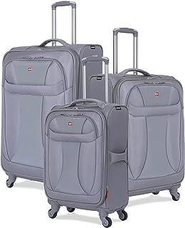 SwissGear 3 Piece Suitcase Set - Spinner Wheels - Softshell & Lightweight