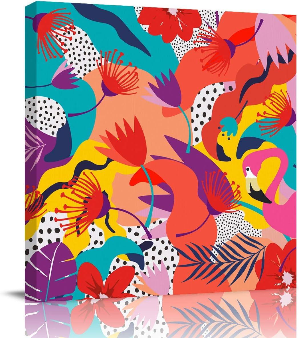 Canvas Wall Art Painting Ranking TOP13 Decor Super intense SALE Tropical Florals Artwo Flamingo