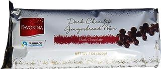 Favorina Dark Chocolate Gingerbread Men Lebkuchen Cookies, Product of Germany, 200g