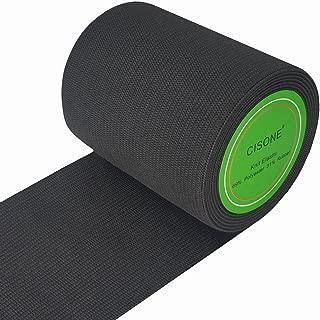Knit Elastic 3 Inch Wide Black Heavy Stretch High Elasticity Knit Elastic Band 3 Yards