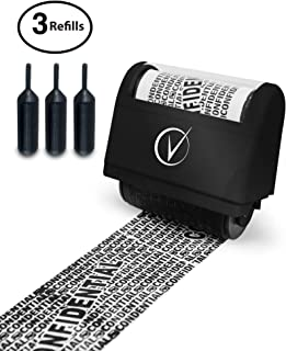 Vantamo Identity Theft Protection Roller Stamp Wide Kit, Including 3-Pack Refills –..