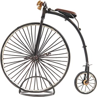 """Old Modern Handicrafts 1870 The High Wheeler-Penny Farthing Collectible, 9.5"""" x 3.5"""" x 8.5"""", Black"""