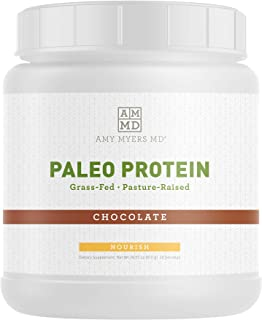 Pure Paleo Protein by Dr. Amy Myers - Clean Grass Fed, Pasture Raised Hormone Free Protein, Non-GMO, Gluten & Dairy Free - 21g Protein Per Serving - Rich Chocolate Protein Shake