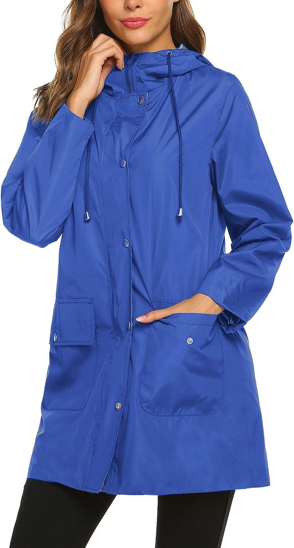 SUNAELIA Rain Jacket Raincoat Women Waterproof Lightweight Hoode
