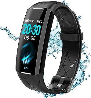 ELEGIANT fitness tracker kvinnor män, fitness armband sportklocka, fitness klocka tum färgskärm IP68, realtids pulsmätare,...