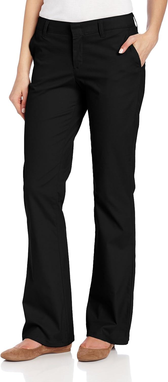 Dickies Women's Slim Fit Boot Cut Stretch Twill Pant