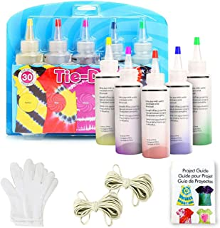 DoreenBow Tie Dye Kit with 5 Colors,Tie Dye for Kids, Adults - DIY Tye Dye with Rubber Bands Gloves and Table Covers,Tye D...