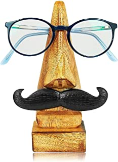 Thoughtful Birthday Day Gift Ideas Handcrafted Movember Rosewood Reading Glasses Stand Spectacle Stand or Eye Glass Holder Wooden Tabeltop Display Stand 6 Inches Housewarming Gift Ideas (Design 7)