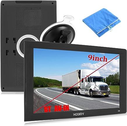 GPS de 9 pulgadas para camión, gran pantalla táctil, GPS para camión, Bluetooth, AV-in, Xgody, navegación GPS para navegación de coche, 8 GB ROM, SAT, NAV, sistema de navegador, alarma de conducción, actualizaciones de mapas de por vida