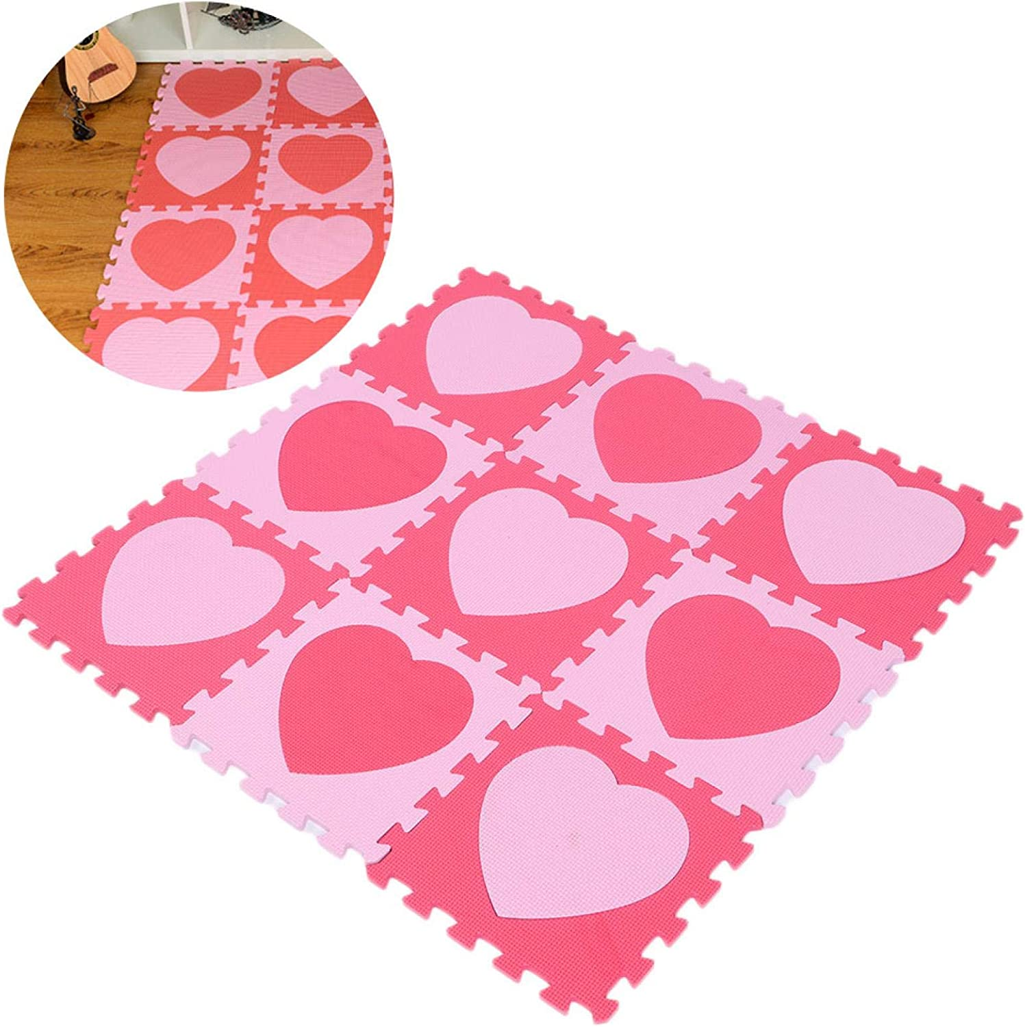 RBSD Heart Pattern Crawling Mat Easy Or Cleaning Po Max 42% OFF Max 74% OFF Odor for No