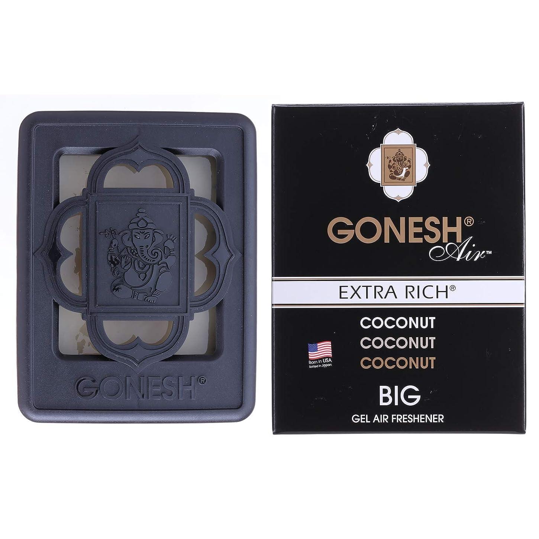 トレーニング色合い気分GONESH(ガーネッシュ)ビッグゲルエアフレッシュナー ココナッツ(ココナッツの香り)
