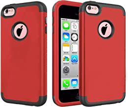 J.west iPhone 5C Case,Hybrid Heavy Duty Shockproof Full-Body Protective Case with Dual Layer [Hard PC+ Soft Silicone] Impa...