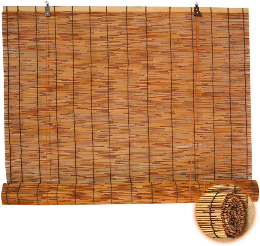 Glopo 期間限定で特別価格 Natural Reed Blinds for Shades Bamboo Outdoor Up 最安値 Roll