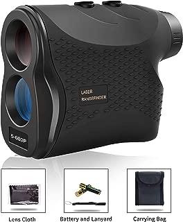 Affyrex Golf Laser Rangefinder, 650 Yard Range with Pulse Vibration, Distance and Speed Measurement, 6X Magnification and Naked Eye Observation (Black)
