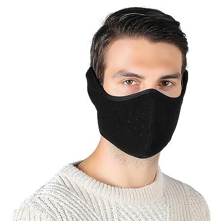 Tweal Invierno Protección Caliente Máscara Anti-frío de Invierno Calentador Máscara para Esquí Bicicleta Ciclismo Motocicleta,Negro(Cálido Unisex)