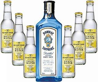 Bombay Sapphire Gin & Fever-Tree Tonic Set - Gin Tonic 40% Vol. - 7-teilig/1St inc. 0.90€ MEHRWEG Pfand